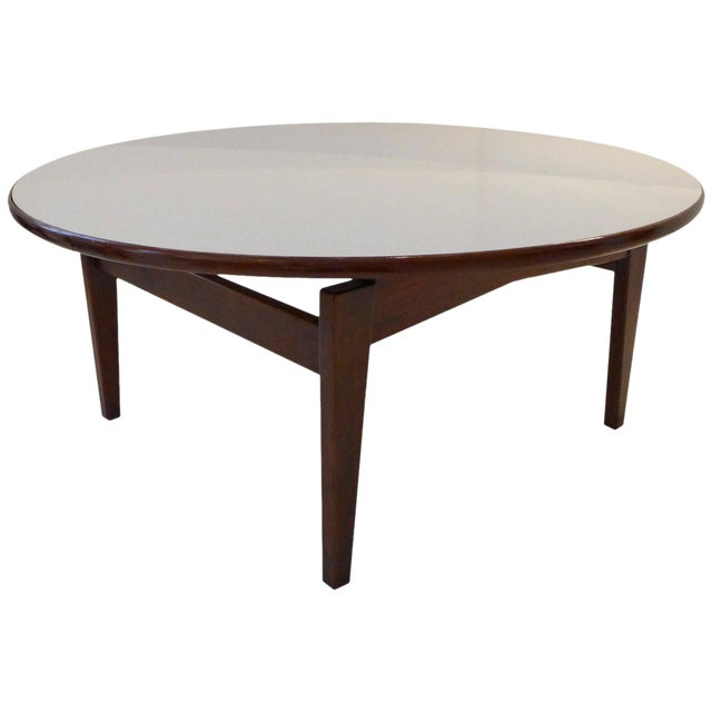 Jens Risom Cocktail Table with White Laminate Top For Sale