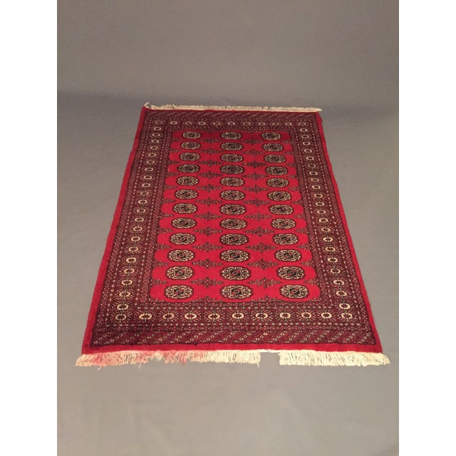 Hand Knotted Woolen Bokhara Rug - 4' x 6' For Sale - Image 10 of 10