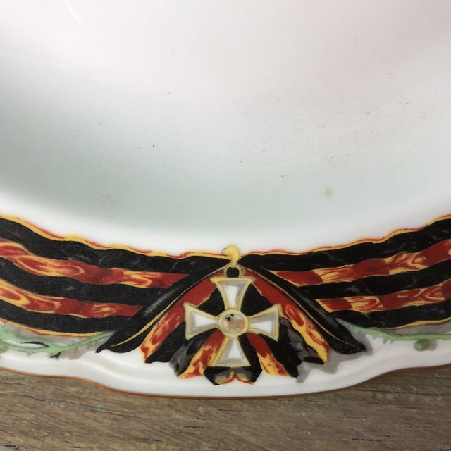 Neoclassical Imperial Russian Order of St. George Reproduction Dinnerware For Sale - Image 3 of 6