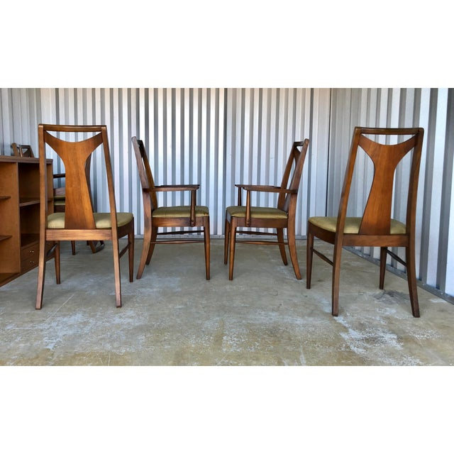 Wood Mid Century Modern Kent Coffey Dining Chairs-Set of 6 For Sale - Image 7 of 10