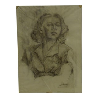"Original Drawing Sketch ""Sultry"" by Tom Sturges Jr., 1951"