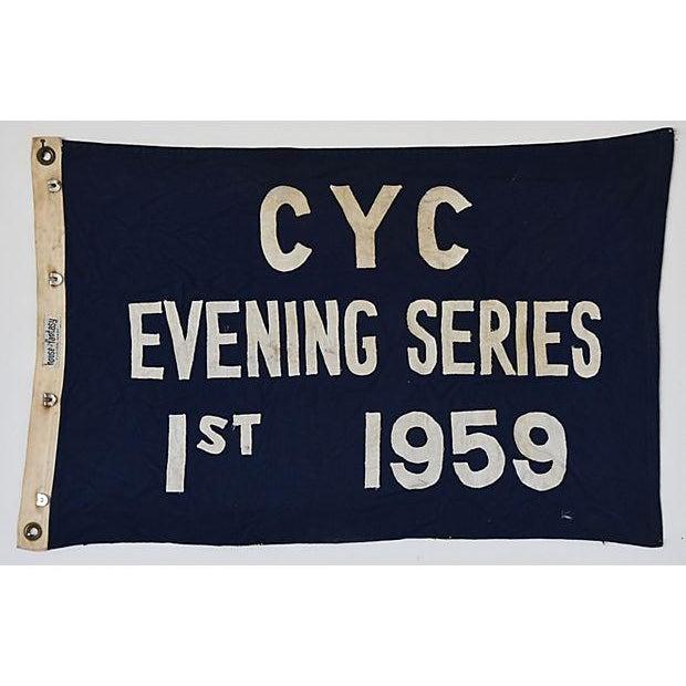 Vintage 1959 Cleveland Yacht Club Trophy Flag For Sale - Image 5 of 6