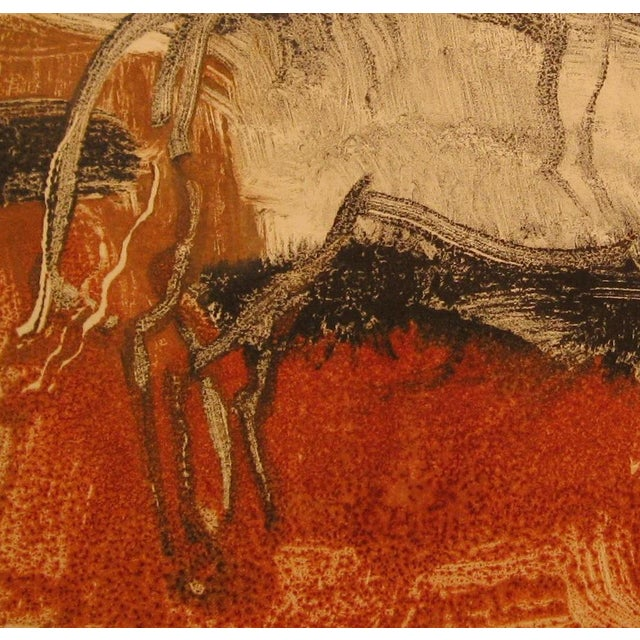 Figurative Amber Waves Monotype Print For Sale - Image 3 of 4