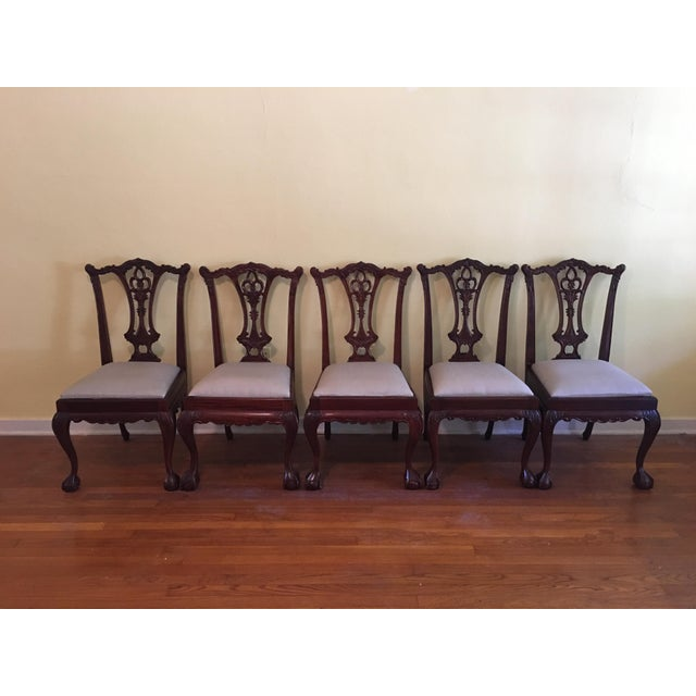 Vintage Chippendale Chairs - Set of 10 - Image 4 of 10