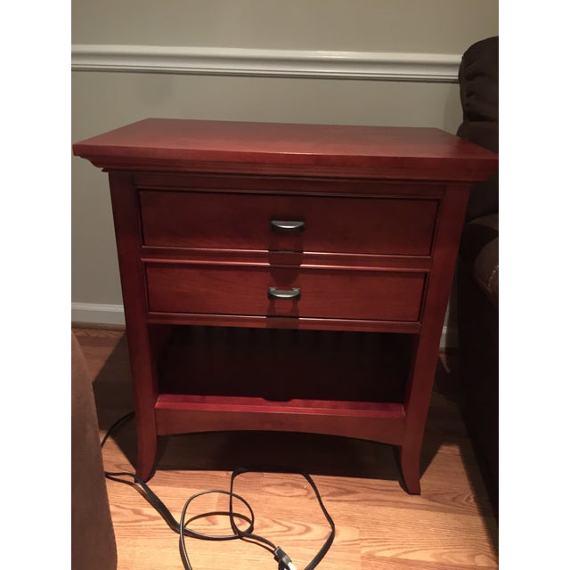 Modern Shaker Cherry Nightstand - Image 2 of 3