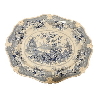 Ridgway Ironstone Platter, Staffordshire, Circa 1820 For Sale