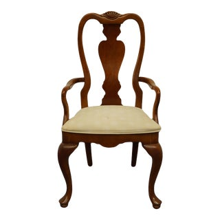 Stanley Furniture Cherry Traditional Style Arm Chair For Sale