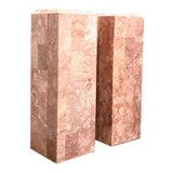 Image of Vintage Tessellated Regency Marble Pedestals - a Pair For Sale