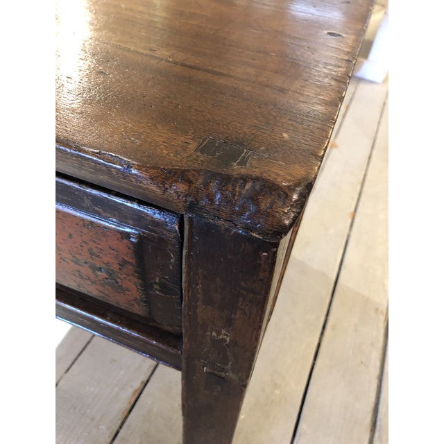 Antique Chinese Rustic Wood End Table With Single Drawer For Sale - Image 11 of 12