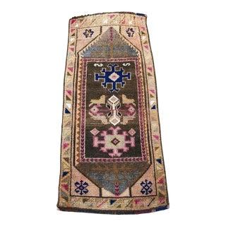 Turkish Small Antique Anatolian Handmade Rug - 1′5″ × 3′2″ For Sale
