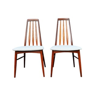 A Danish - Mid-Century Modern Eva Chairs by Niels Koefoed (A Pair Available) For Sale