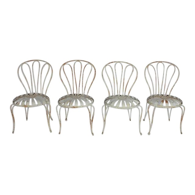 1930s French Sunburst Garden Chairs by Francois Carre - Image 1 of 3 - World-Class 1930s French Sunburst Garden Chairs By Francois Carre