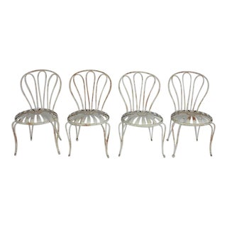 1930's Vintage Francois Carre French Sunburst Garden Chairs For Sale