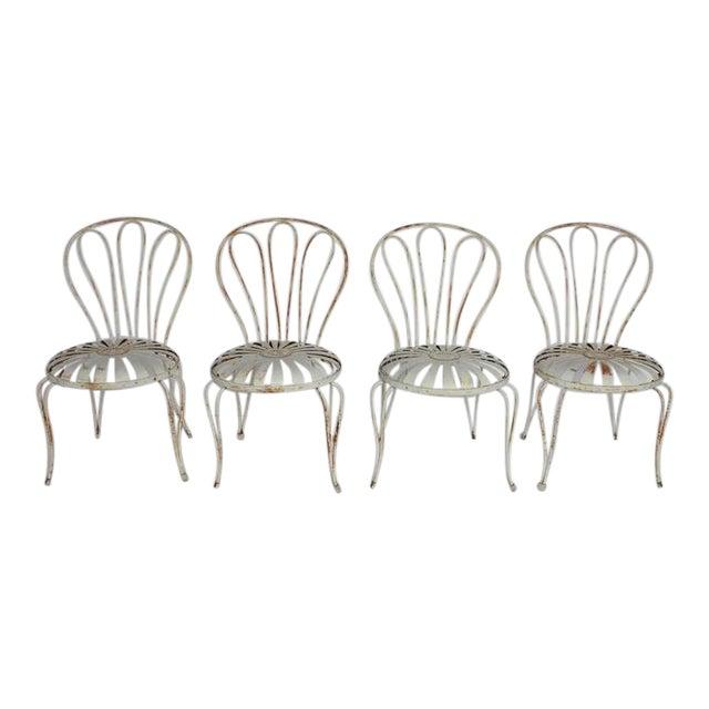 1930's Vintage Francois Carre French Sunburst Garden Chairs For Sale - World-Class 1930's Vintage Francois Carre French Sunburst Garden