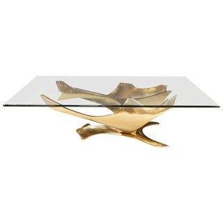 Fred Brouard Bronze Sculptural Cocktail Table For Sale