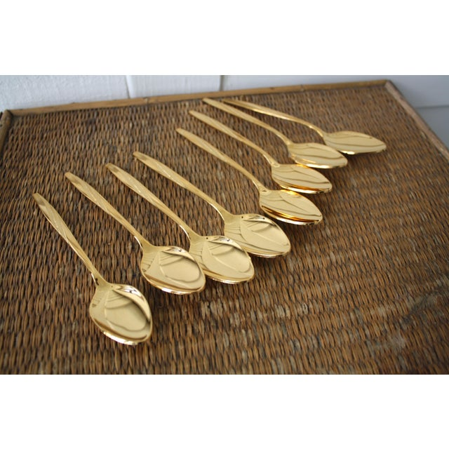 Mid-Century International Silver Gold Tone Spoons - Set of 8 - Image 2 of 11