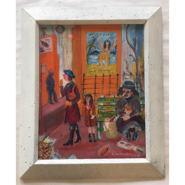 Mid Century Modernist Original Painting, Street - Image 6 of 6