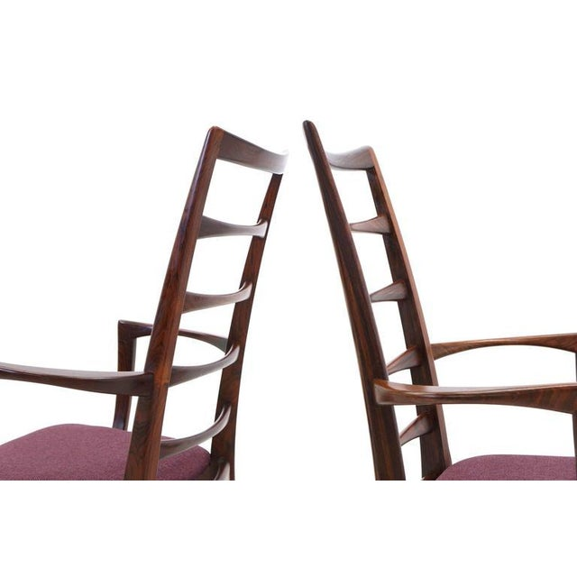 """Pair of Rosewood """"Lis"""" Dining Armchairs by Niels Koefoed for Koefoed Hornslet For Sale - Image 5 of 9"""
