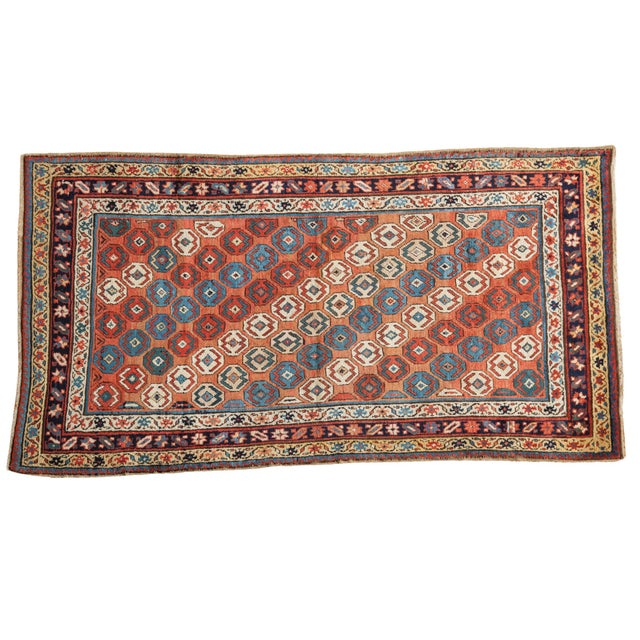 "Antique Caucasian Rug - 3'9"" X 6'11"" - Image 1 of 9"