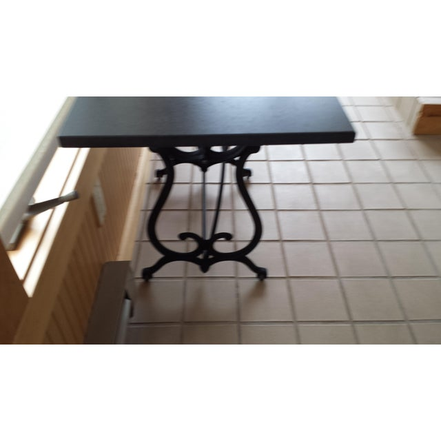 Metal Wrought Iron & Slate Top Console Table For Sale - Image 7 of 11
