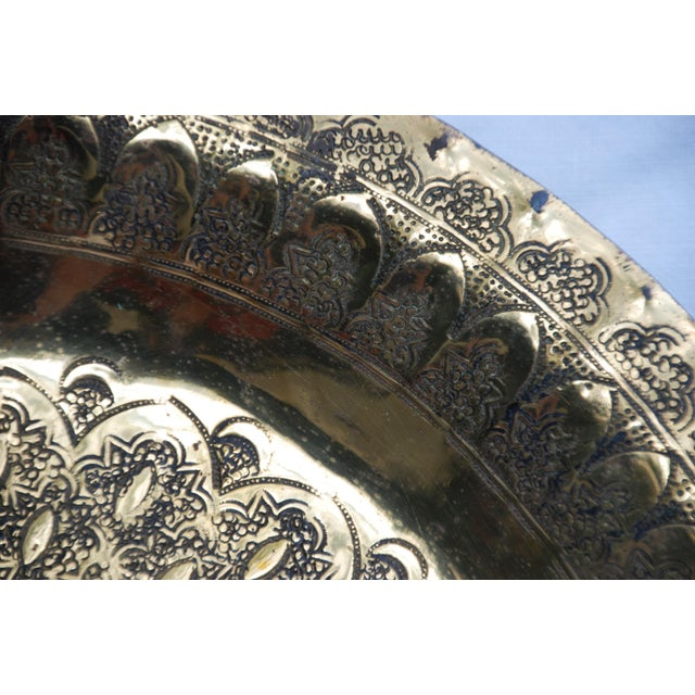 Vintage Moroccan Brass Tray - Image 5 of 8