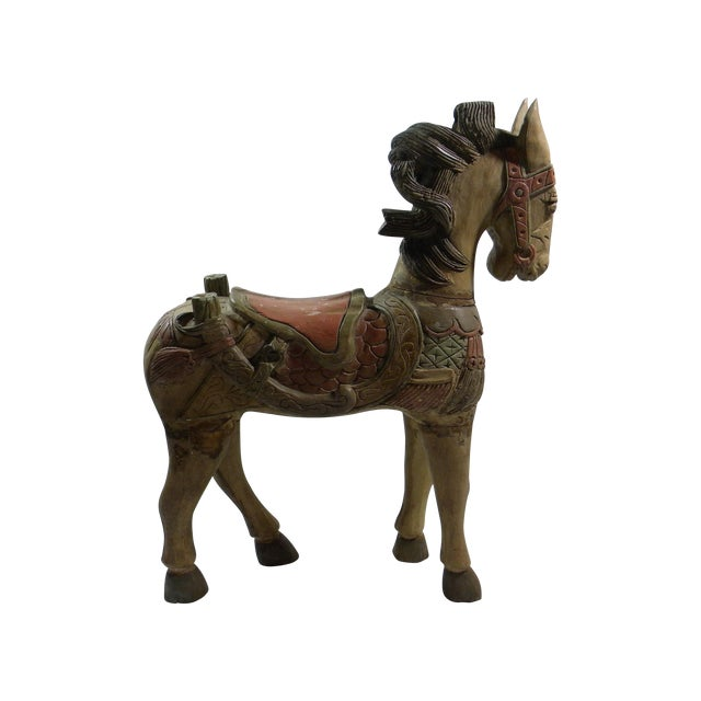 Large Indonesian Carved Horse - Image 1 of 6