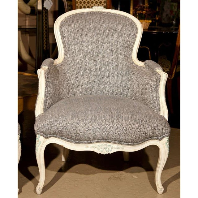 French Duchesse Brisee Bergere Chairs - Set of 3 For Sale - Image 5 of 7