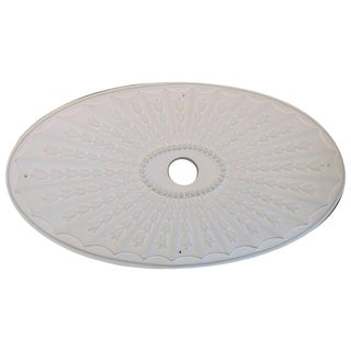 """Oval Tulip"" Plaster Ceiling Medallions For Sale"