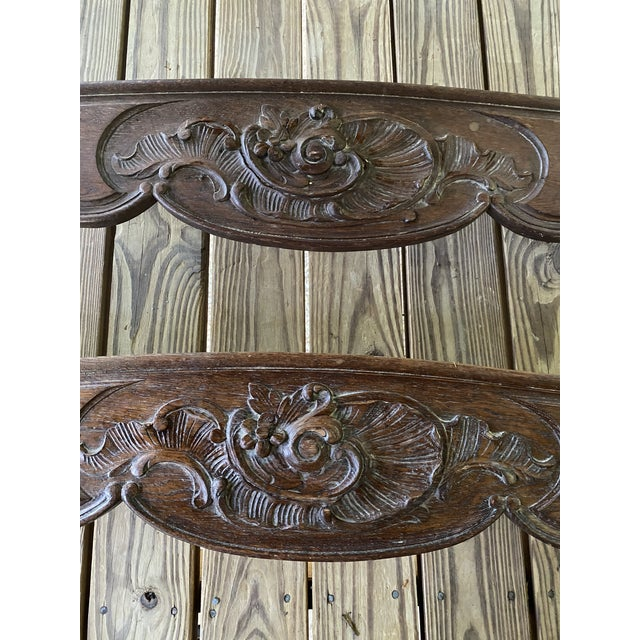 English Antique English Carved Window Cornices - a Pair For Sale - Image 3 of 8