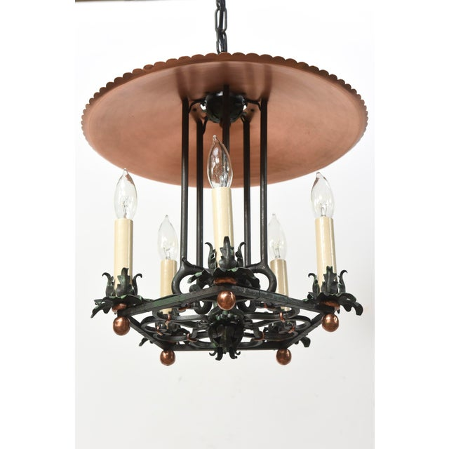 Traditional Copper and Verdigris Open Lantern For Sale - Image 3 of 12