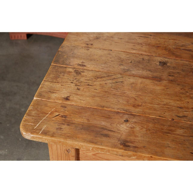 Rustic Country Pine Table For Sale - Image 4 of 7