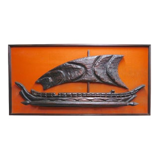 Monumental Mid Century Ship Wall Hanging by Witco For Sale