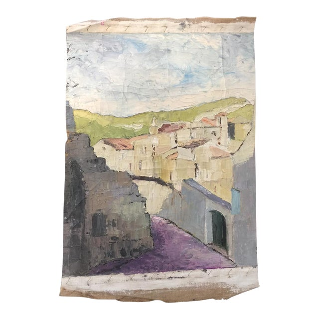 Vintage French impressionistic Fragment Painting - Image 1 of 3