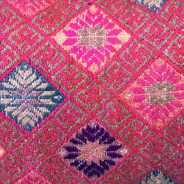 Hmong Vibrant Woven Textile Pillow - Image 3 of 5
