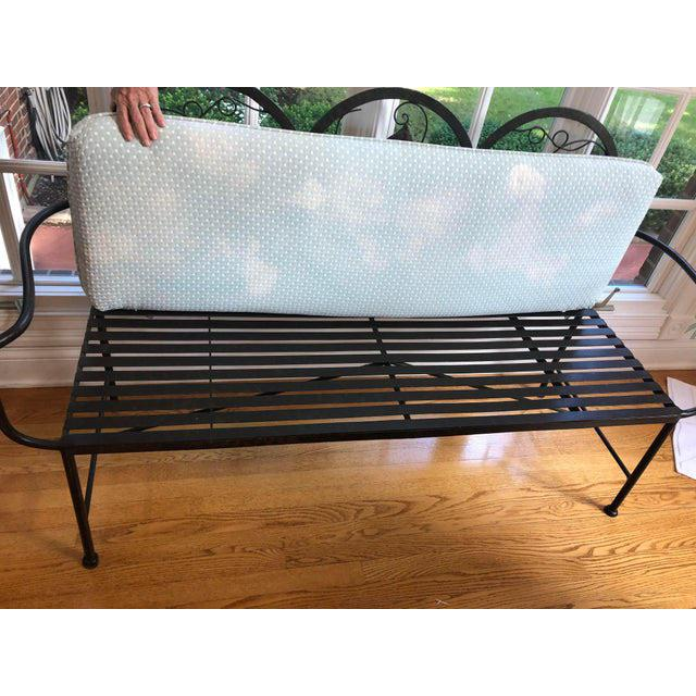Maitland - Smith Late 20th Century Heavy Iron Bench by Maitland Smith For Sale - Image 4 of 11