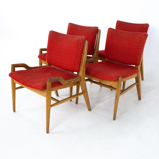 Mid-Century Modern John Keal for Brown Saltman Mid Century Mahogany Dining Chairs - Set of 4 For Sale - Image 3 of 13
