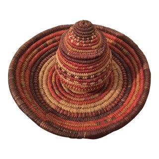Vintage Handmade Woven Lidded Baskets- a Pair