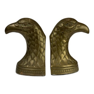Mid 20th Century Brass Eagle Bookends - a Pair For Sale