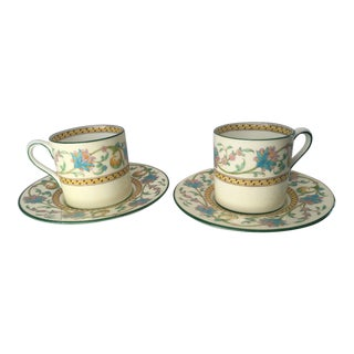 Wedgwood Demitasse Cups & Saucers - A Pair For Sale