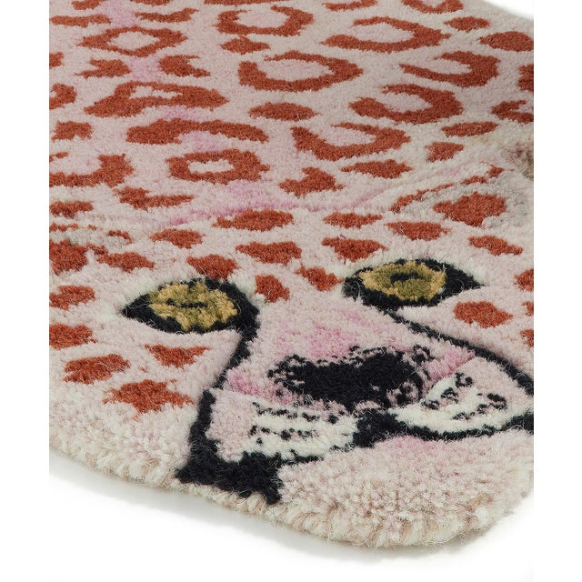 Shabby Chic Doing Goods Pinky Leopard Rug Small For Sale - Image 3 of 6
