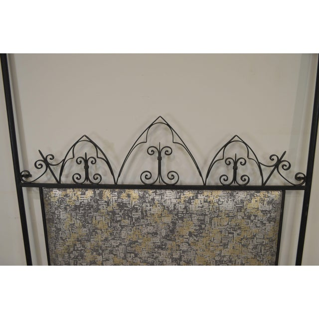 Hollywood Regency Mid Century Iron Full Size Poster Headboard For Sale - Image 12 of 13