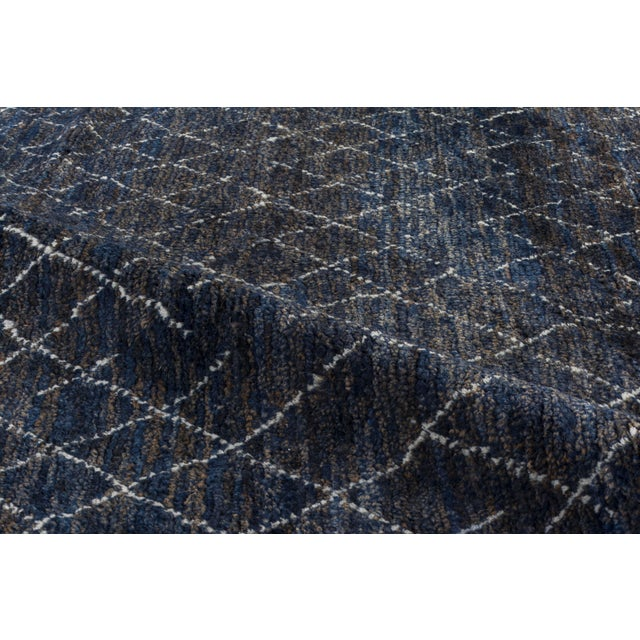 "Stark Studio Rugs Stark Studio Rugs Kitto Rug in Navy Blue/White, 10'0"" x 14'0"" For Sale - Image 4 of 5"