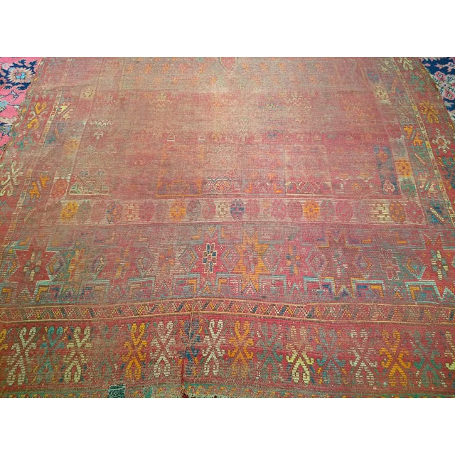19th Century Moroccan Village Rug - 5′10″ × 14′5″ For Sale - Image 4 of 13