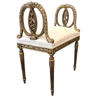 Louis XIV Style Giltwood Bench For Sale