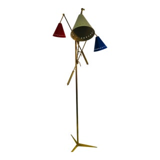 Triennale Floor Lamp Arredoluce Style For Sale