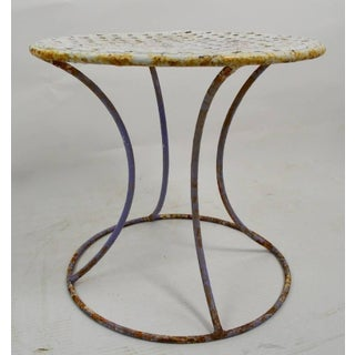 Wrought Iron Side Table Attributed to Woodard Preview