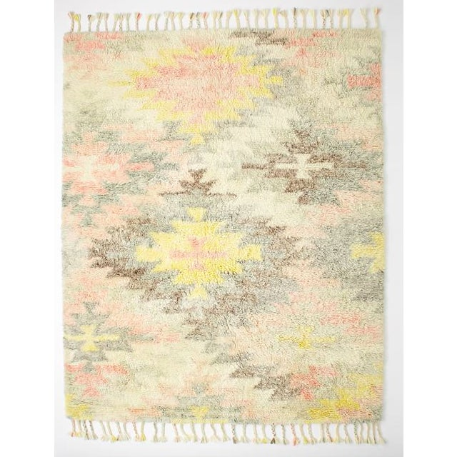West Elm West Elm Multi-Colored Wool Rug - 5' x 8' For Sale - Image 4 of 4