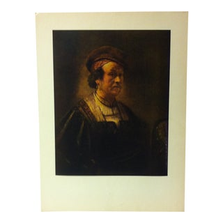 "Mounted Color Print on Paper, ""Self-Portrait"" (1650) by Nicolas Poussin - Circa 1950 For Sale"