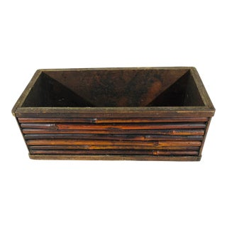 Vintage Desk/Table Top Bamboo Box For Sale