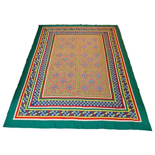 Handwoven Vietnamese Quilt - Image 1 of 4